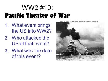 WW2 #10: Pacific Theater of War