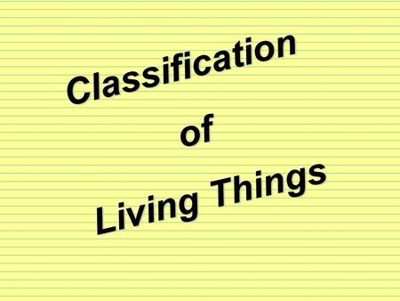 Classification of Living Things I -Classification I -Classification: grouping of organisms, to help learn more about them.