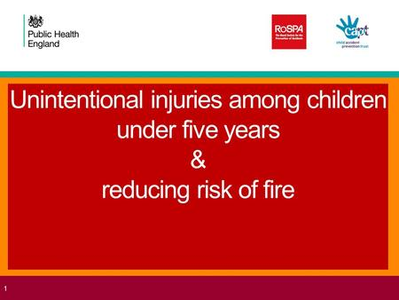 Unintentional injuries among children under five years & reducing risk of fire 1.