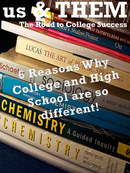 Us & THEM The Road to College Success. 2. The Grading Systems 3. Time Management 4. Personal Problem Differences 5. Working Independently 6. Gggggg 7.