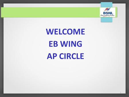 1 WELCOME EB WING AP CIRCLE. 2 S.NO.YEAR TARGET (Rs. In Cr) BUSINESS ACHIEVED (Rs. in Cr) % OF ACHIEVEMENT 12011–12107.00166.67155.76 22012-13145.24154.92106.67.