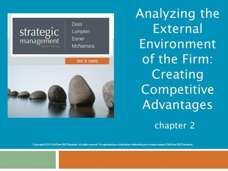Analyzing the External Environment of the Firm: Creating Competitive Advantages chapter 2.