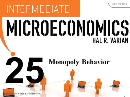 © 2010 W. W. Norton & Company, Inc. 25 Monopoly Behavior.
