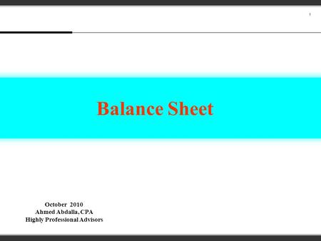 Elements of the Balance Sheet ppt video online download – Professional Balance Sheet