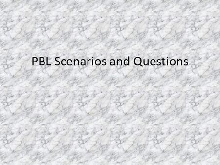 PBL Scenarios and Questions. Scenario #1 An educational company has asked for your help to create an activity with the following materials. 20 pieces.