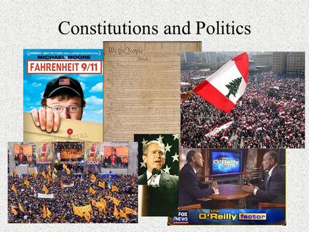 Constitutions and Politics. The U.S. Constitution is the oldest written constitution still in use. What does this imply about the stability of governments.
