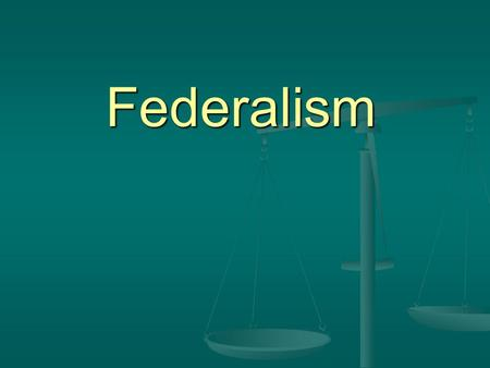 Federalism. Federalism What is Federalism? What is Federalism? A system of government in which a written constitution divides the powers of government.