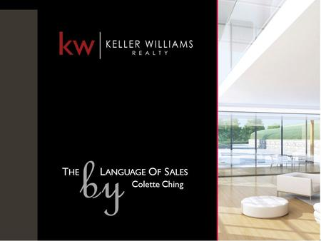 kw kw SANTA MONICA vs. The MARKET T HE L ANGUAGE O F S ALES by Colette Ching.