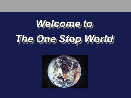 Welcome to The One Stop World. Once a broker, always...... an underwriter?