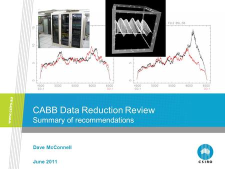 CABB Data Reduction Review Summary of recommendations Dave McConnell June 2011.