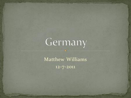 Matthew Williams 12-7-2011. The German Confederation was created by an act of the Congress of Vienna on June 8, 1815. Karl von Drais in 1817 invented.