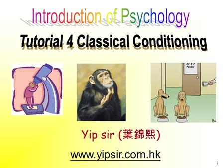 1 www.yipsir.com.hk Yip sir ( 葉錦熙 ). 2 Learning 1. Behaviorism –Promoted by John B. Watson –View that psychology… should be an objective science study.