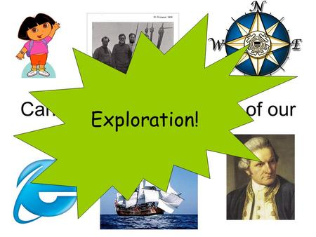 Can you guess the theme of our new topic? Exploration!