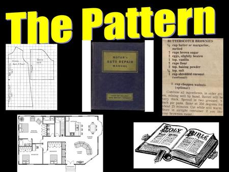 Introduction Patterns are a necessary part of our everyday life. A mother follows a pattern in making a dress. A contractor uses a blueprint to build.