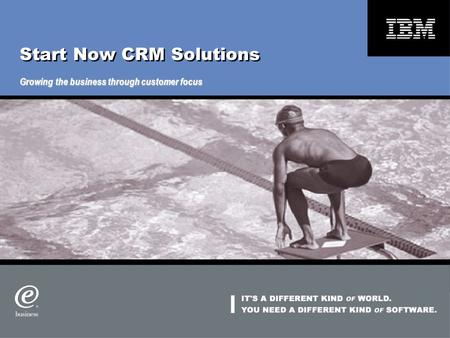Start Now CRM Solutions Growing the business through customer focus.