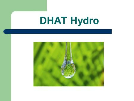 DHAT Hydro. Mission Statement Our mission is to work as a group in our Introduction to Business class, to compare and contrast Aquafina, Dasani, and Nestle.