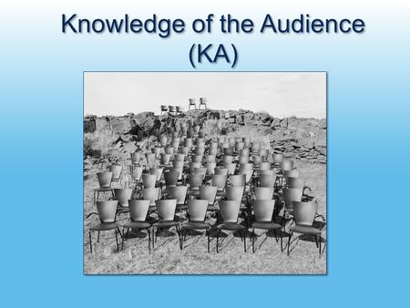 Knowledge of the Audience (KA). NASA Earth Science Education & Public Outreach Retreat Communicating with Global Warming's Six Americas: Message Strategies.