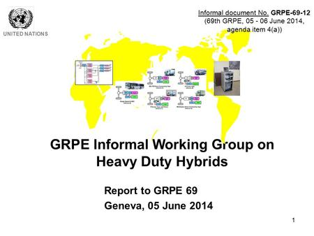 1 GRPE Informal Working Group on Heavy Duty Hybrids UNITED NATIONS Report to GRPE 69 Geneva, 05 June 2014 Informal document No. GRPE-69-12 (69th GRPE,