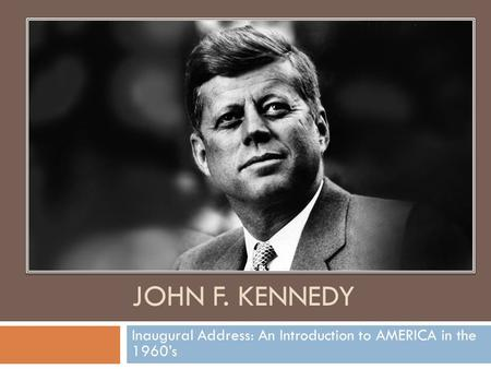 An introduction to the life of john f kennedy and john fitzgerald