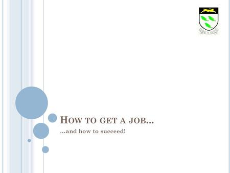 H OW TO GET A JOB... …and how to succeed!. W HY INTERVIEWS ? what can an interview tell you about an applicant that you cannot learn from an application.
