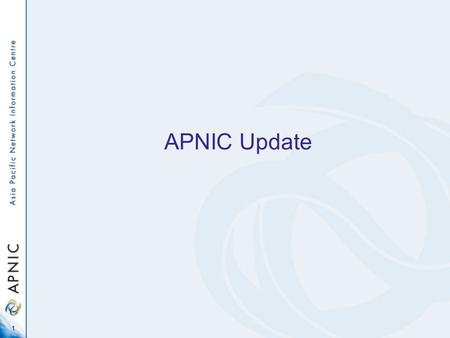 1 APNIC Update. 2 4th time at NZNOG … Let's do something different this time.