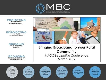 Bringing Broadband to your Rural Community NACO Legislative Conference March, 2014.