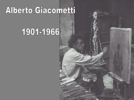 Part of Alberto Giacometti art-historical importance springs from his defence of figuration at a time when the advantage was with abstract art. He was.