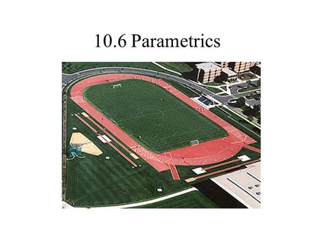 10.6 Parametrics. Objective To evaluate sets of parametric equations for given values of the parameter. To sketch curves that are represented by sets.