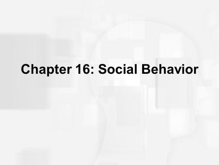 Chapter 16: Social Behavior. Social Psychology Person perception Attribution processes Interpersonal attraction Attitudes Conformity and obedience Behavior.