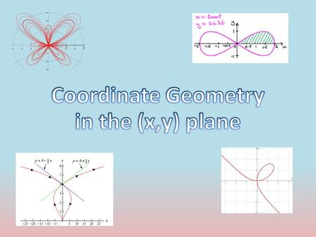 Introduction This chapter focuses on Parametric equations Parametric equations split a 'Cartesian' equation into an x and y 'component' They are used.