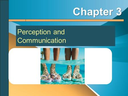 Perception and Communication Chapter 3. The Process of Human Perception Perception: the active process of creating meaning by selecting, organizing, and.