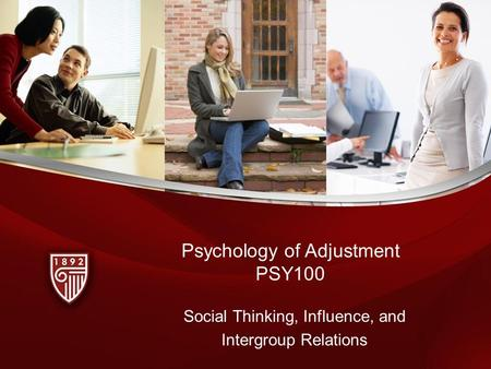 Psychology of Adjustment PSY100