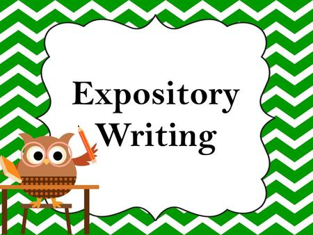 Facts about expository essay