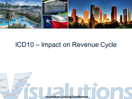 ICD10 – Impact on Revenue Cycle. Agenda Introduction What the industry is saying What I think is going to happen How can you be best prepared.