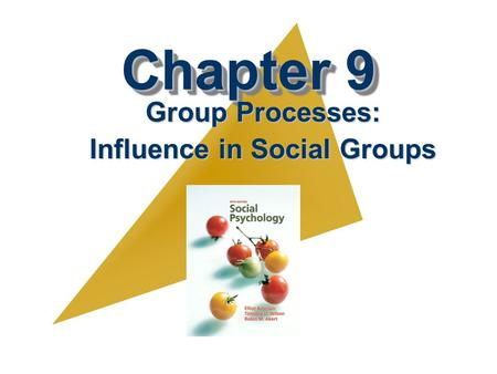 Chapter 9 Group Processes: Influence in Social Groups.