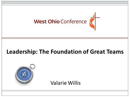 Leadership: The Foundation of Great Teams Valarie Willis.