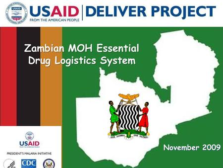 Zambian MOH Essential Drug Logistics System November 2009.