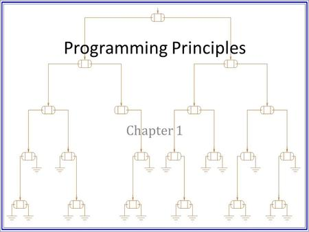 Programming Principles Chapter 1. Objectives Discuss the program design process. Introduce the Game of Life. Discuss object oriented design. – Information.