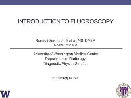 Introduction to Fluoroscopy