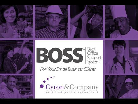 What is BOSS? Back Office Support System An Online Business Platform for Ultimate Convenience.