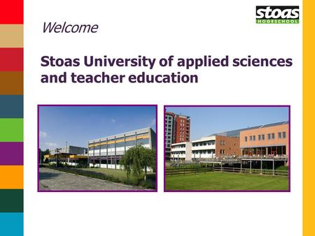 Welcome Stoas University of applied sciences and teacher education.
