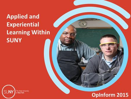 OpInform 2015 Applied and Experiential Learning Within SUNY.