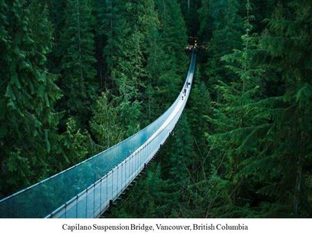 Capilano Suspension Bridge, Vancouver, British Columbia.