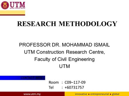 utm thesis civil engineering Kuala lumpur, 21 december 2017 – faculty of electrical engineering (fke) student team from universiti teknologi malaysia (utm) ranked in.