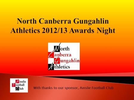 With thanks to our sponsor, Ainslie Football Club.