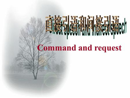 "Command and request. What is the meaning of ""command"" and "" request""? Command: 要求,命令,指令 Command: 要求,命令,指令 Request: 请求,要求 Request: 请求,要求."