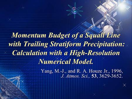 Momentum Budget of a Squall Line with Trailing Stratiform Precipitation: Calculation with a High-Resolution Numerical Model. Yang, M.-J., and R. A. Houze.