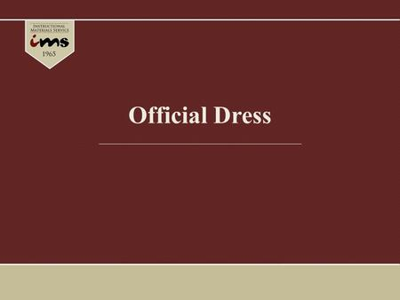 Official Dress. The uniform worn by FFA members at local, state and national functions is called the Official Dress. It provides identity and gives a.
