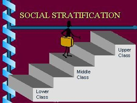 Social Stratification Ranking of individuals or categories of individuals on the basis of unequal access to scarce resources & social rewards.