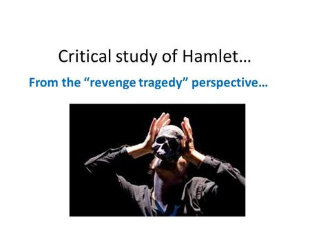 a literary analysis of the tragedy hamlet by william shakespeare The tragedy of julius caesar  by william shakespeare   questions that require an analysis of literary  drama study guide: the tragedy of julius caesar .